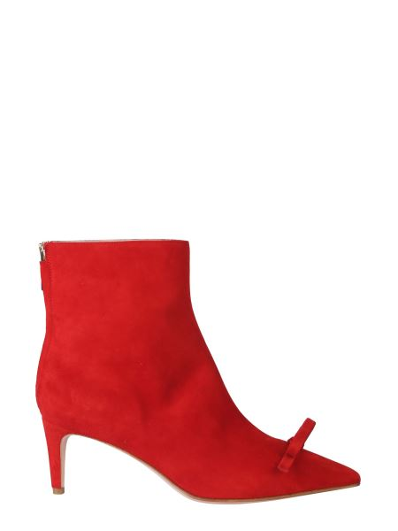 Red (v) - Sandie Suede Leather Ankle Boot