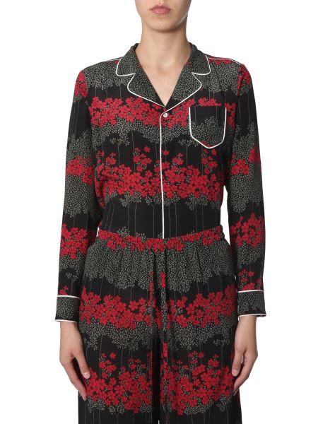 Red Valentino - Silk Shirt With Dreaming Peony Print