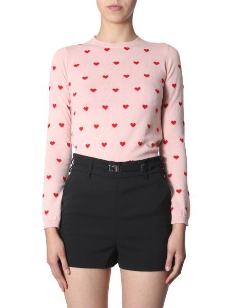 Red Valentino - Maglia In Lana Con Intarsi Cuori