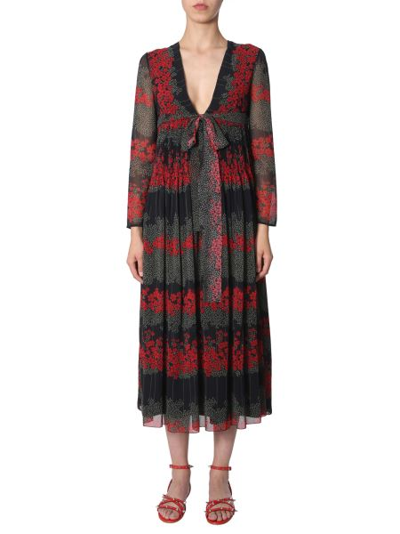 Red Valentino - Dreaming Peony Print Long Dress