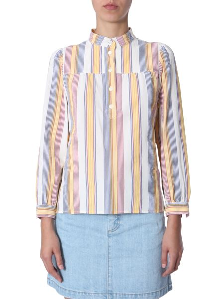 A.p.c. - Loula Blouse In Striped Cotton