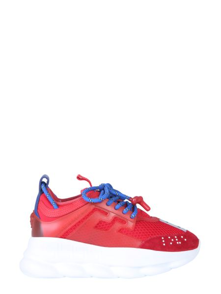 Versace - Chain Reaction Suede Sneaker In Rubber Leather