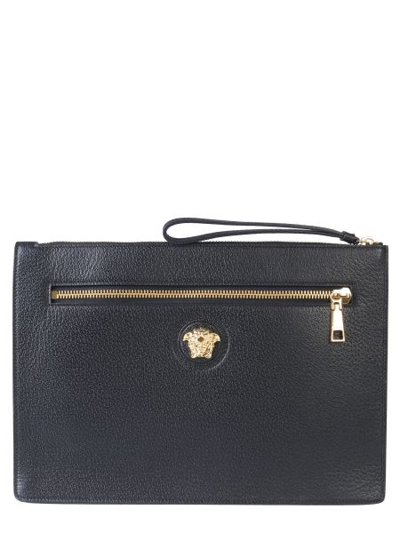 Versace - Large Leather Palazzo Clutch