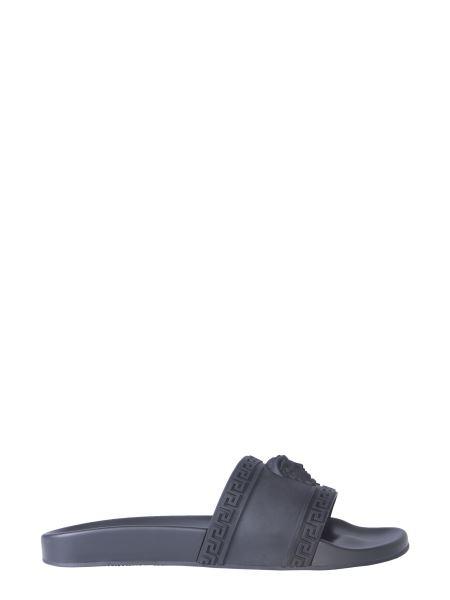 Versace - Slide Rubber Sandal With Medusa Logo