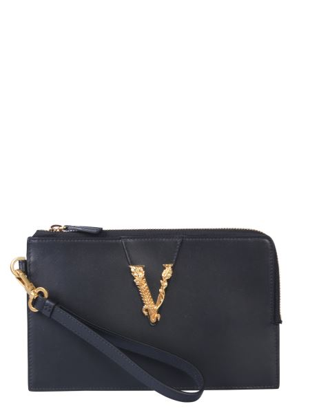 Versace - Small Leather Clutch With Zip