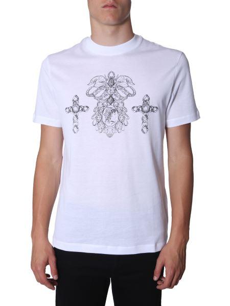 Versace - Round Neck Printed Cotton T-shirt