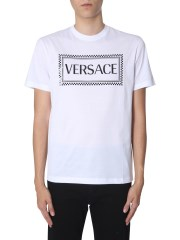 VERSACE - T-SHIRT CON STAMPA LOGO 90S