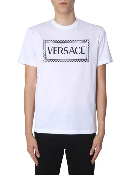 Versace - Cotton T-shirt With Logo 90s Print