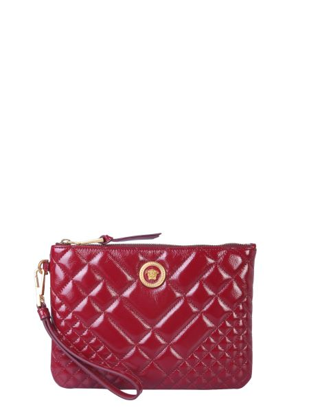 Versace - Quilted Leather Clutch With Medusa Logo