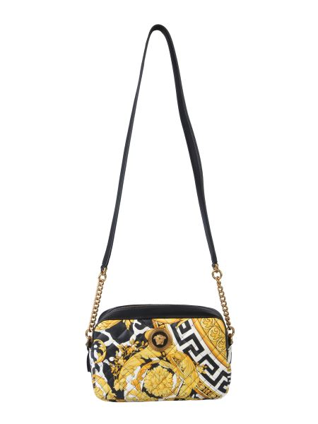 Versace - Gold Hibiscus Quilted Leather Shoulder Bag