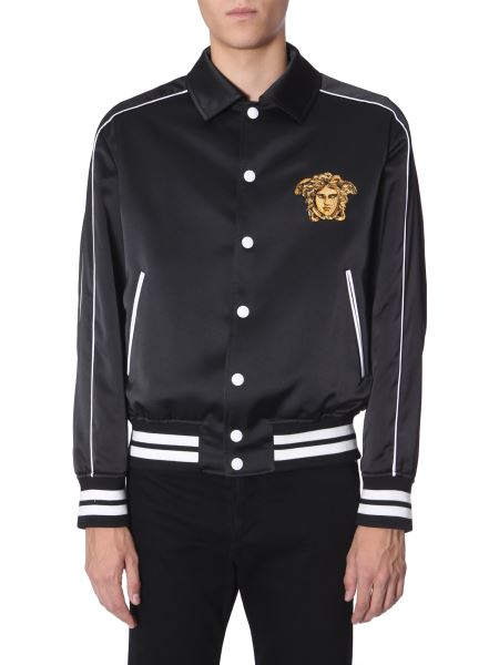 Versace - Padded Satin Embroidered Jacket