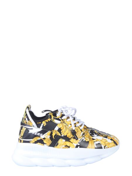Versace - Chain Reaction 2 Leather Sneaker