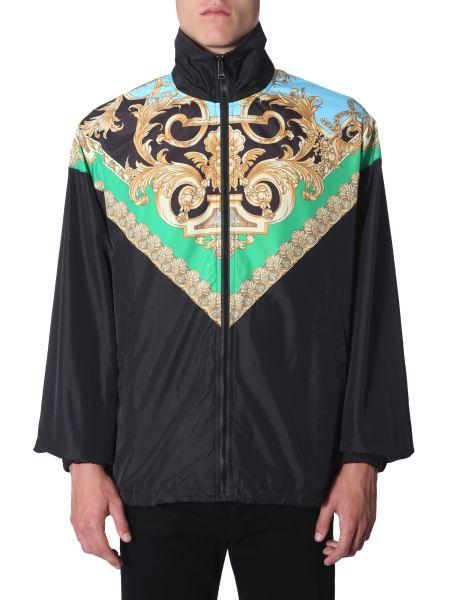 Versace - High Neck Nylon Jacket With Baroque Print