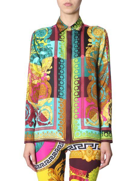 Versace - Silk Shirt With Baroque Voyage Print