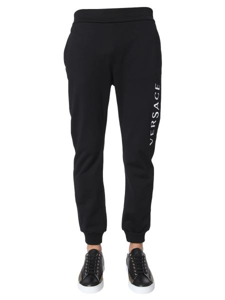 Versace - Cotton Sweatpants With Logo Print