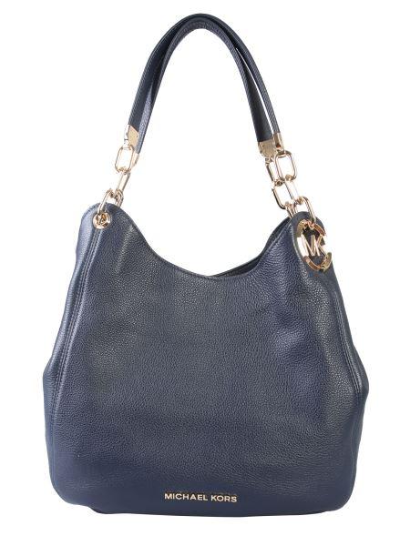 Michael By Michael Kors - Large Lillie Hammered Leather Shoulder Bag