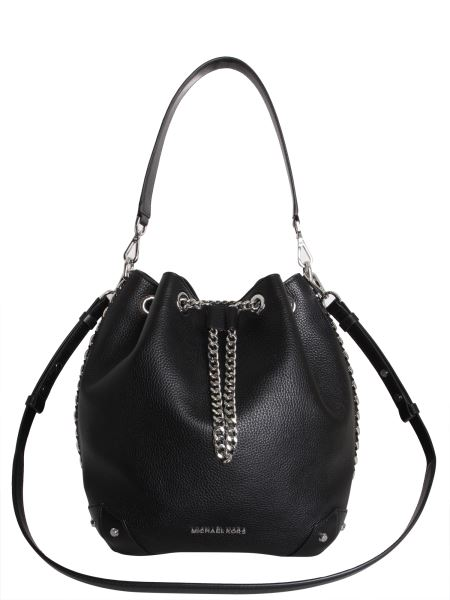 Michael By Michael Kors - Large Alanis Hammered Leather Bucket Bag