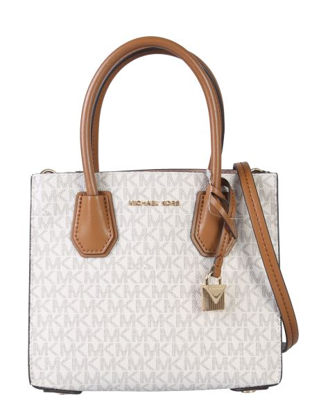 Michael By Michael Kors - Mercer Lined Canvas Bag With Logo