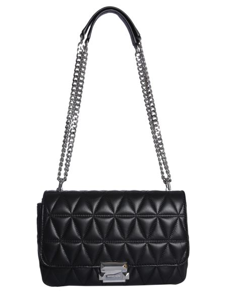 Michael By Michael Kors - Large Sloan Messenger Bag In Quilted Leather