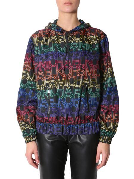 Michael By Michael Kors - Rainbow Jacket With Hood And Logo Print
