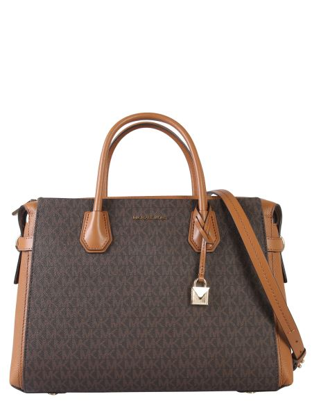 Michael By Michael Kors - Medium Mercer Bag Lined Canvas With Logo