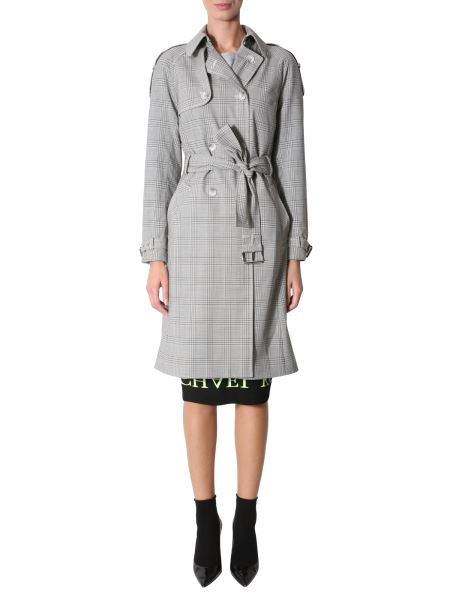 Michael By Michael Kors - Prince Of Wales Stretch Wool Trench