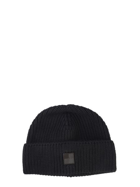 Woolrich - Knitted Hat With Logo Patch