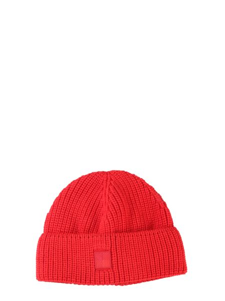 Woolrich - Knitted Hat With Patch Logo