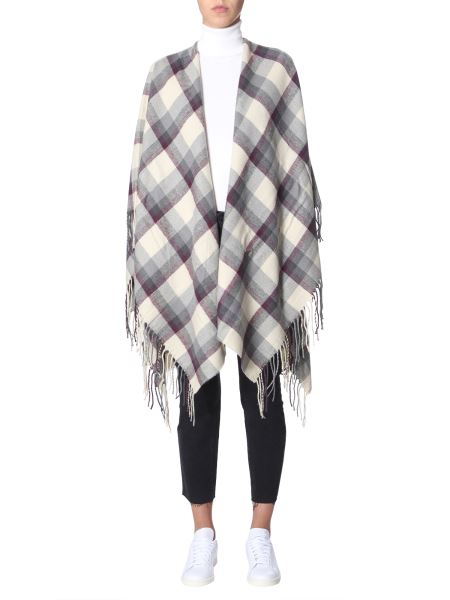 Woolrich - Tartan Poncho With Fringes
