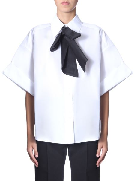Givenchy - Oversize Fit Shirt With Scarf Collar