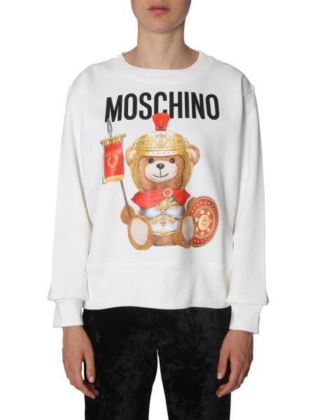 Moschino - Teddy Circus Crew Neck Cotton Sweatshirt