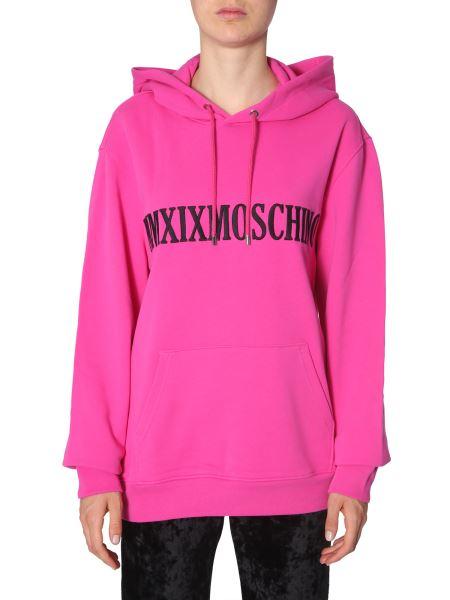 Moschino - Hooded Cotton Sweatshirt With Mmxix Insert