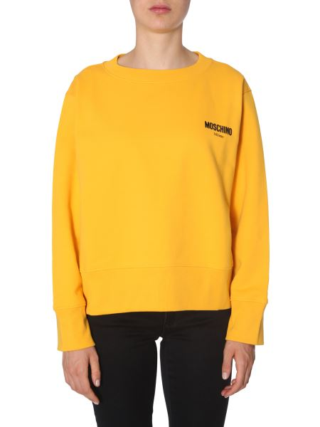 Moschino - Crew Neck Cotton Sweatshirt With Logo