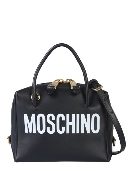 Moschino - Leather Case Bag With Logo