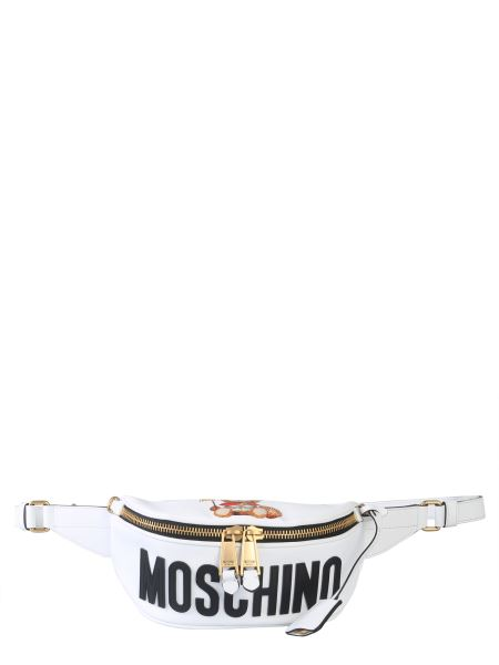 Moschino - Polyurethane Pouch With Logo Patch