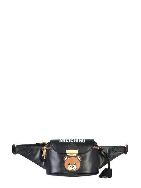 Moschino - Teddy Bear Leather Pouch