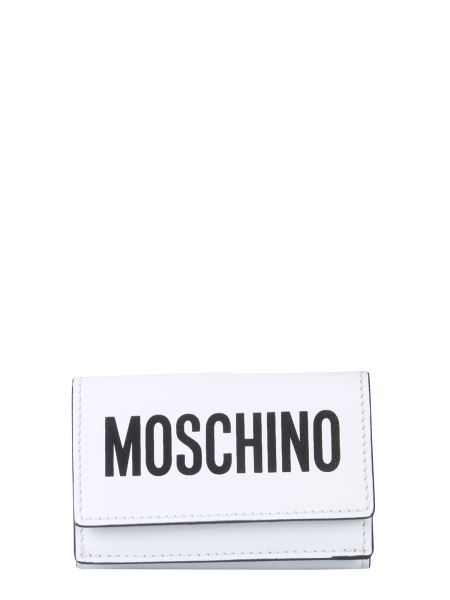 Moschino - Leather Wallet With Logo Print
