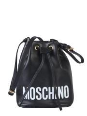 MOSCHINO - BORSA A SECCHIELLO CON LOGO