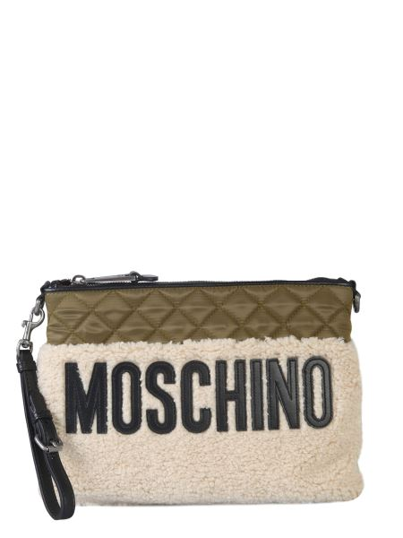 Moschino - Quilted Shearling Detail Clutch