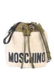 MOSCHINO - BORSA A SECCHIELLO IN SHEARLING