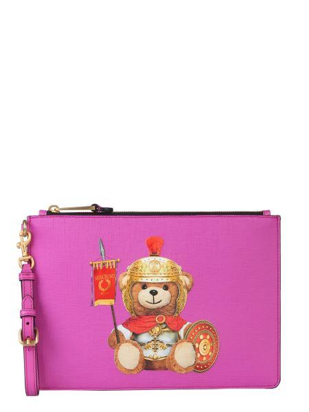 Moschino - Roman Teddy Bear Pouch With Logo Print