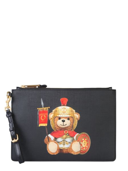 Moschino - Roman Teddy Bear Pouch With Logo Patch
