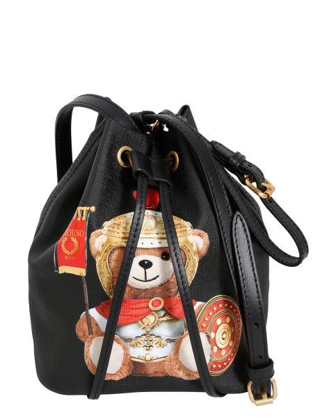 Moschino - Roman Teddy Bear Leather Bucket Bag