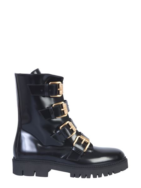 Moschino - Leather Boots With Buckles