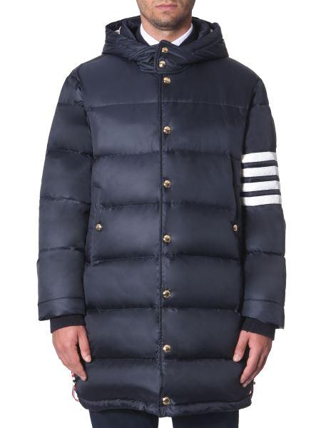 Thom Browne - Matt Nylon Down Jacket With Removable Hood