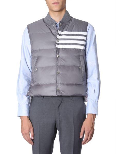 Thom Browne - Sleeveless Matt Nylon Down Jacket