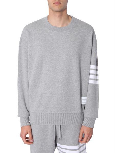 Thom Browne - Crew Neck Cotton Sweatshirt