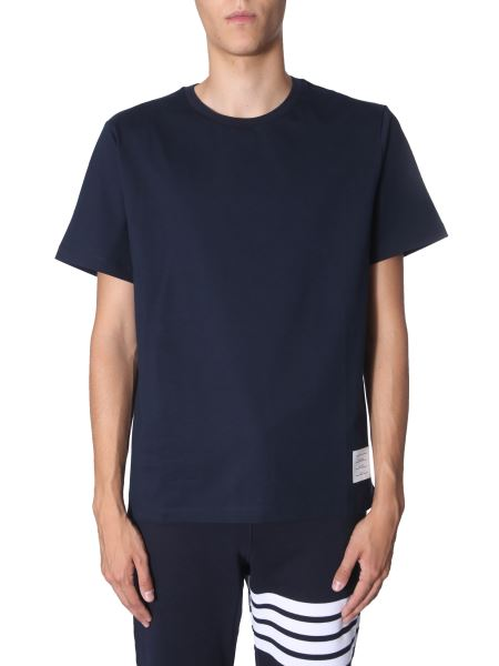 Thom Browne - Round Neck Cotton T-shirt With Side Split