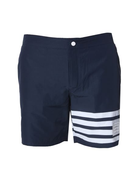 Thom Browne - Swimsuit With Stripes Detail