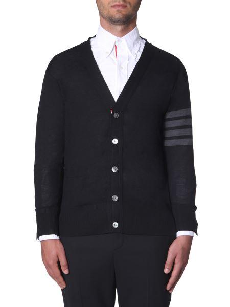 Thom Browne - Merino Wool V-neck Cardigan
